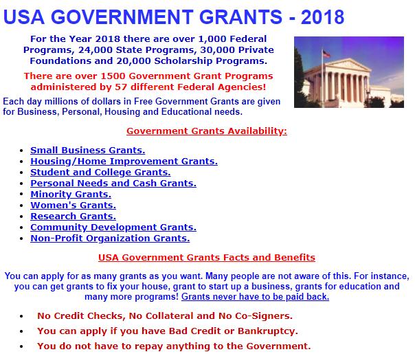 Free Grants for Housing